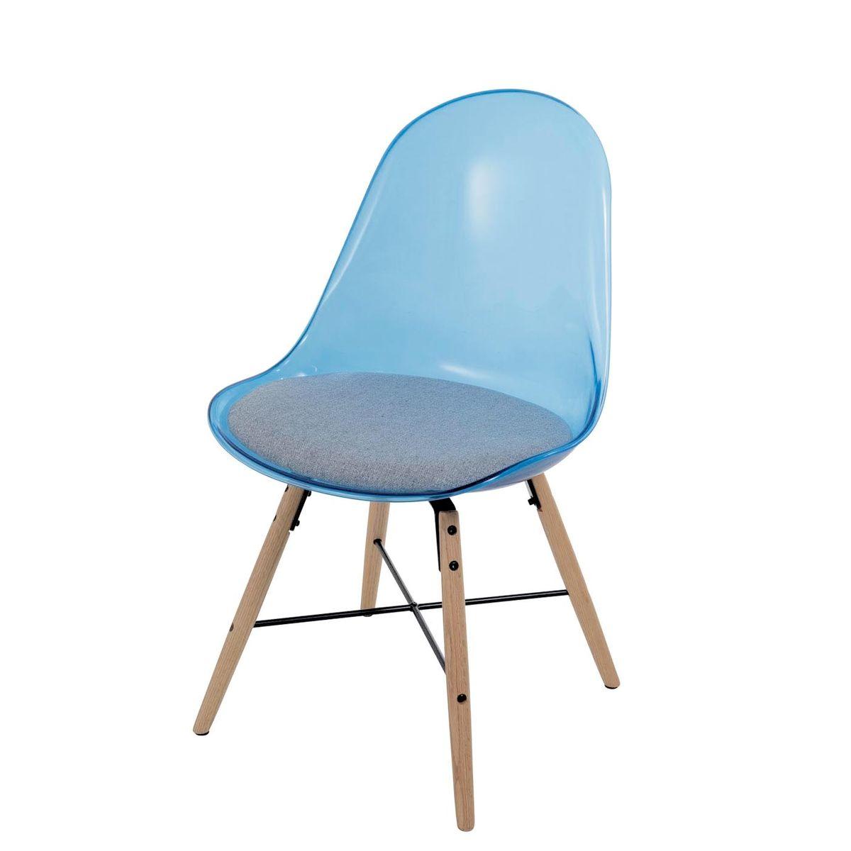 Chaise de repas bleu transparent
