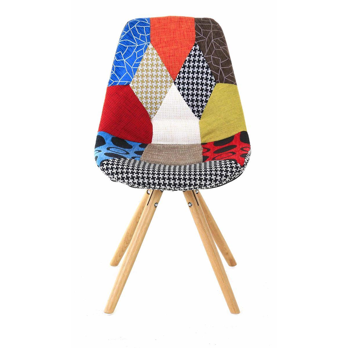 Chaise scandinave multicolore