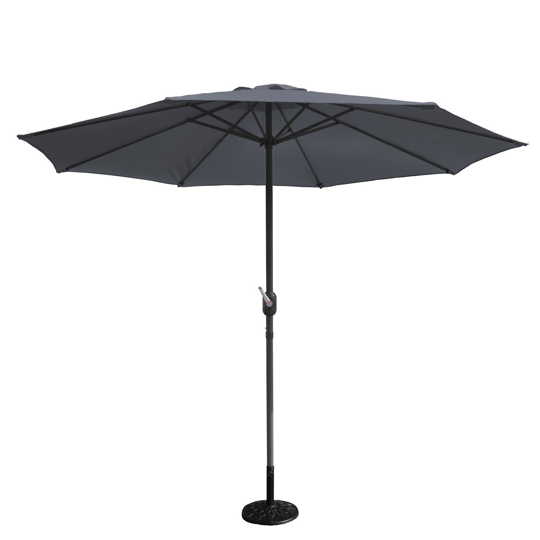 Parasol droit D 2,7 m gris