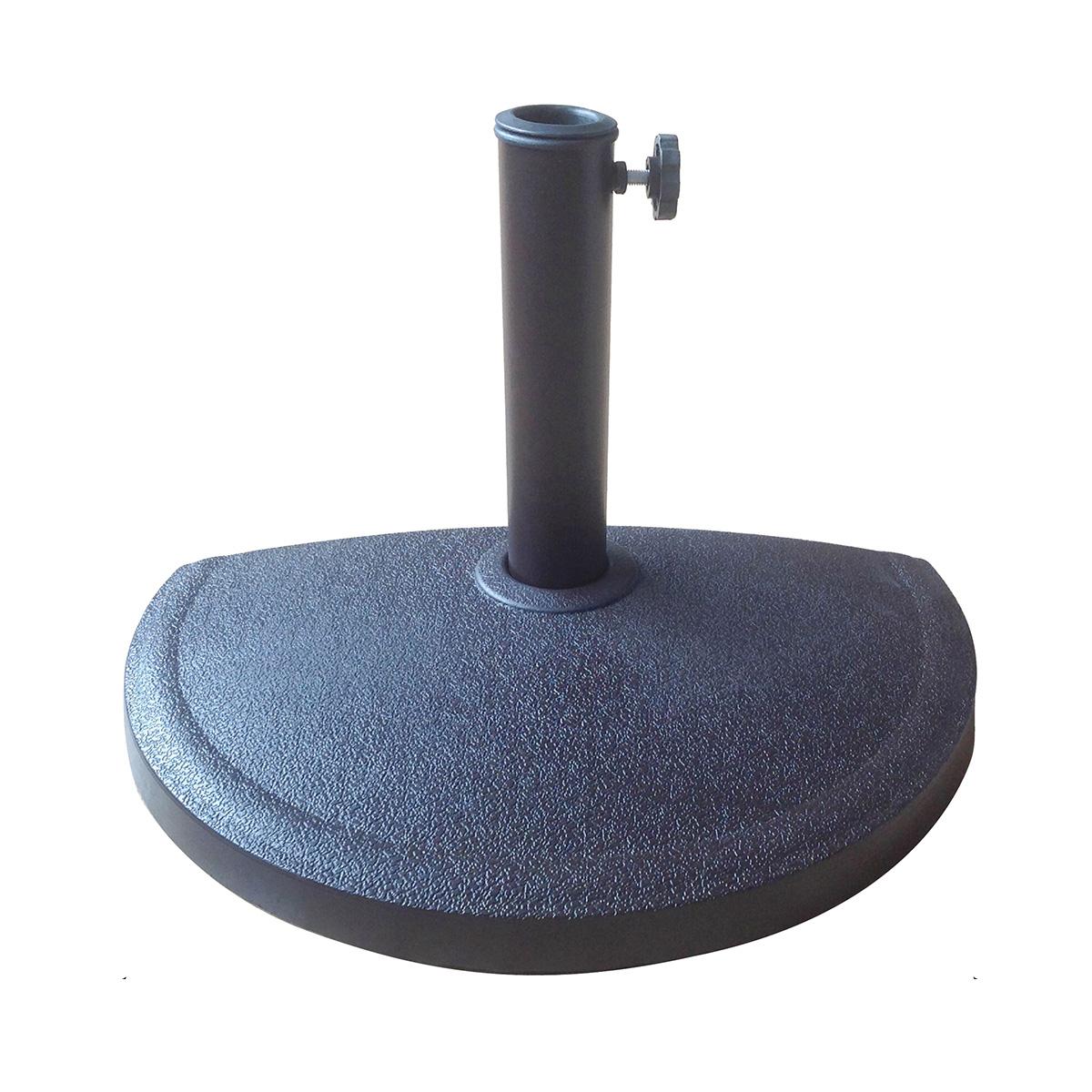 Demi-pied de parasol noir en résine noir, diamètre 5,7 cm