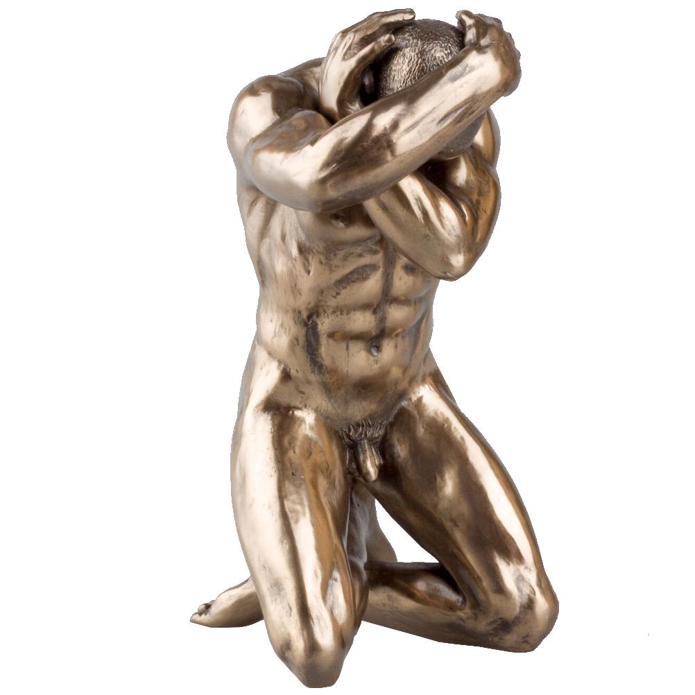 Statuette en résine homme nu H15cm