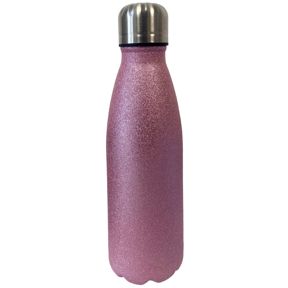 Bouteille thermos fushia en inox 500ml (photo)