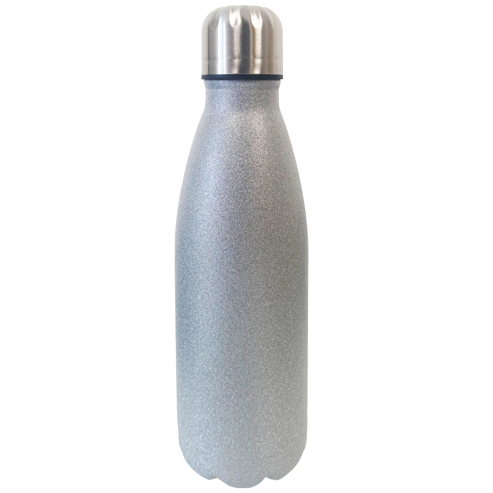 Bouteille thermos argent en inox 500ml (photo)