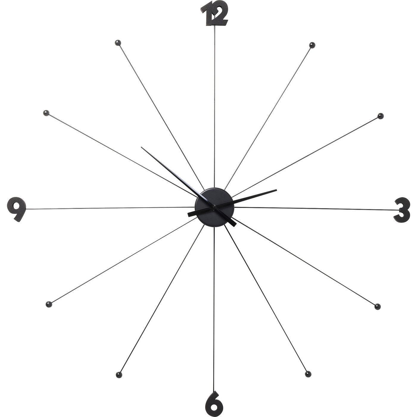 Horloge en acier noir