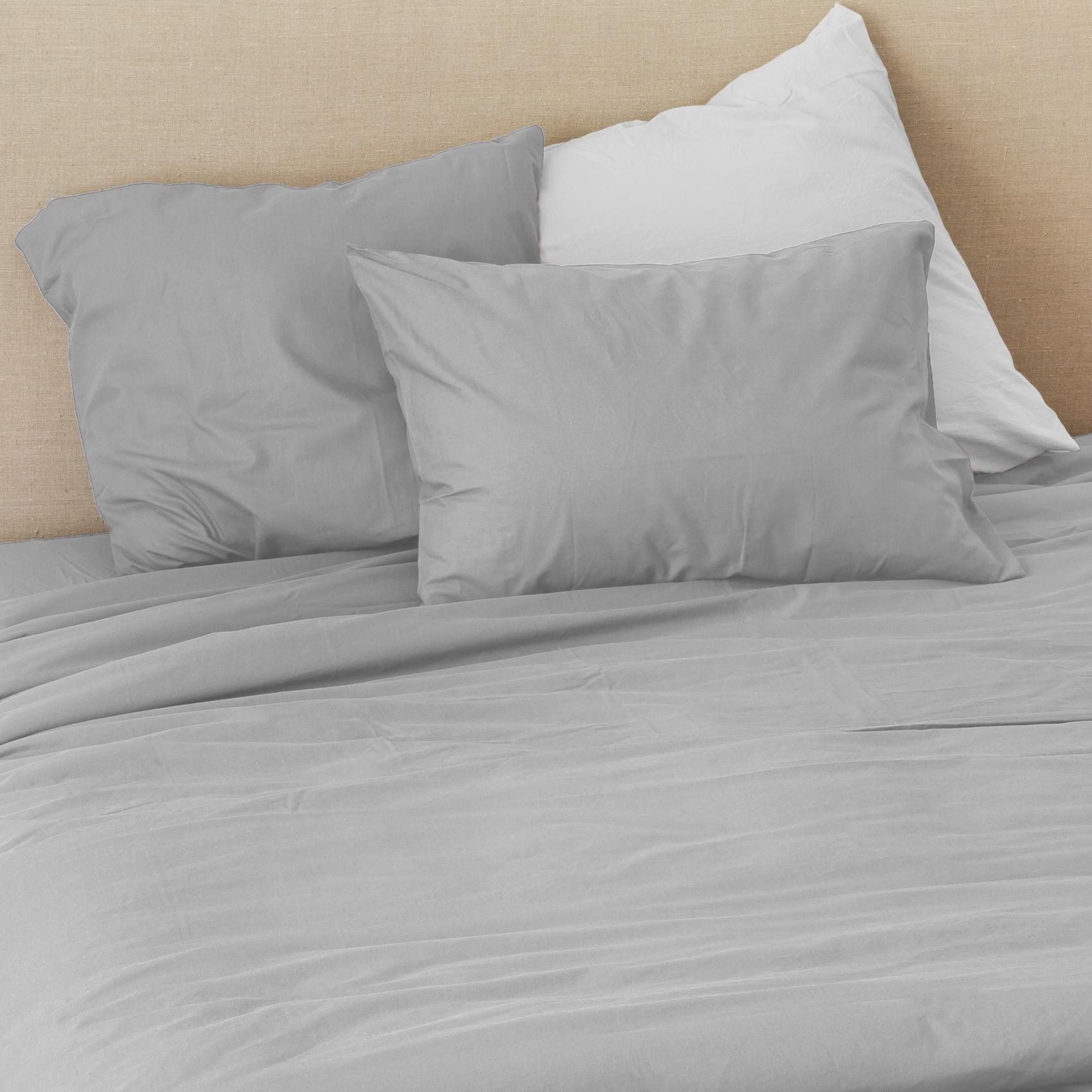 Taie d'oreiller en coton lavé coton flanelle 65x65
