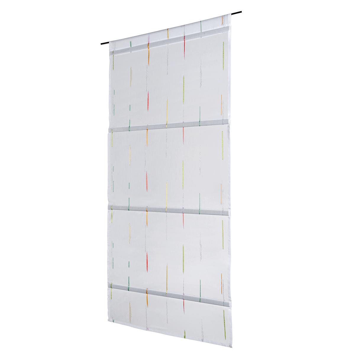 Store relevable aimanté à bâtonnets jacquard polyester gris 160x60