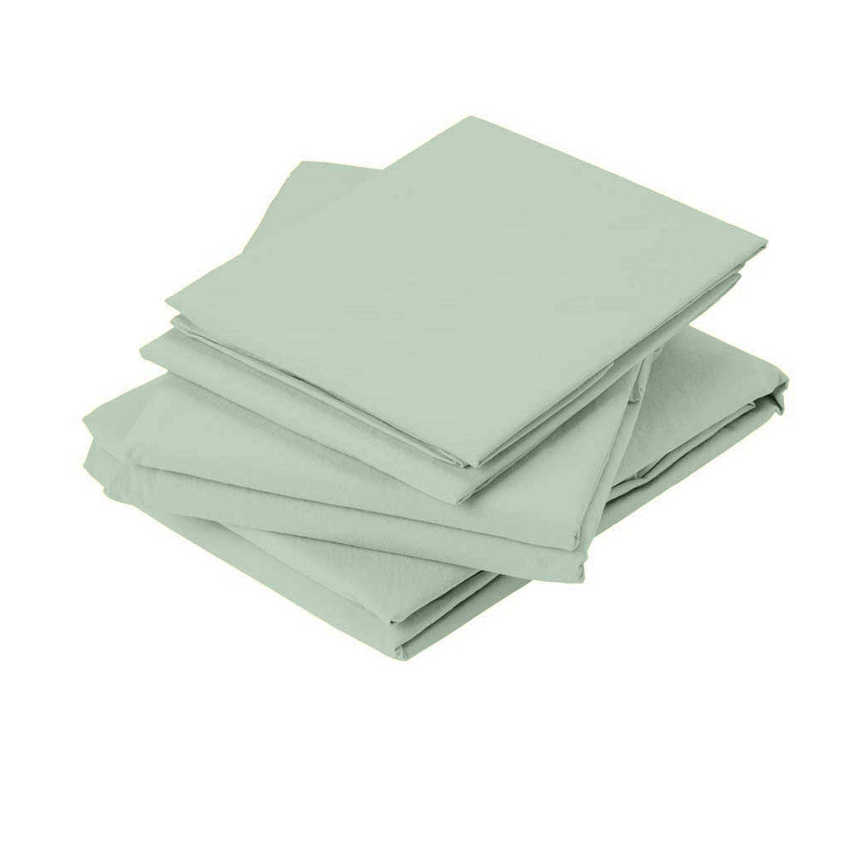 Drap plat en coton lavé coton argile 290x180