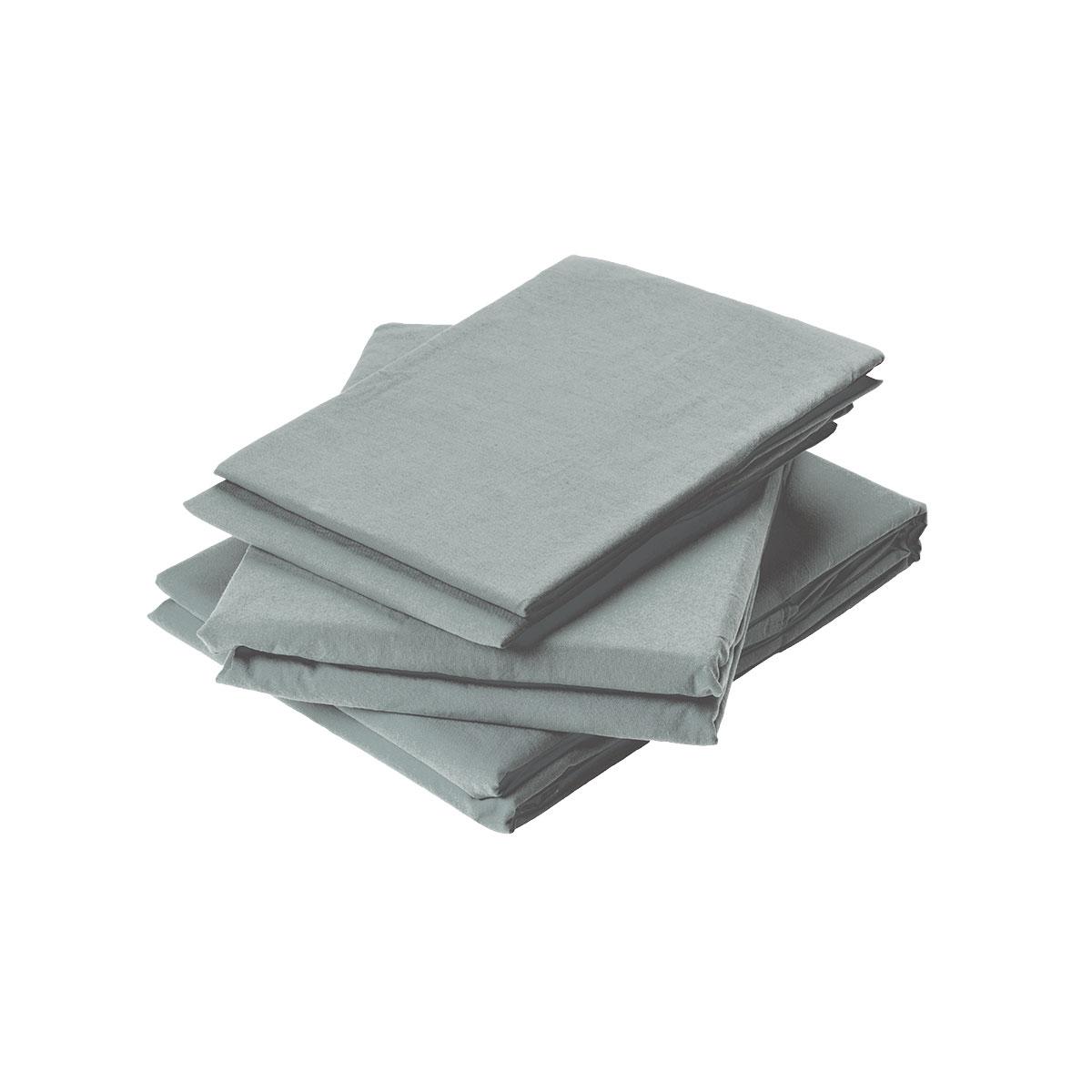 Drap plat en coton lavé coton flanelle 200x180