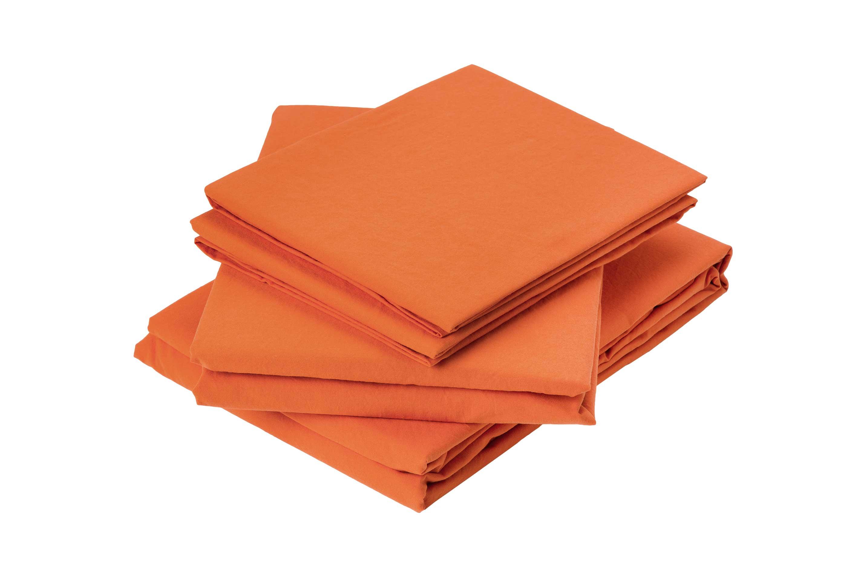 Drap plat en coton lavé coton corail 290x180