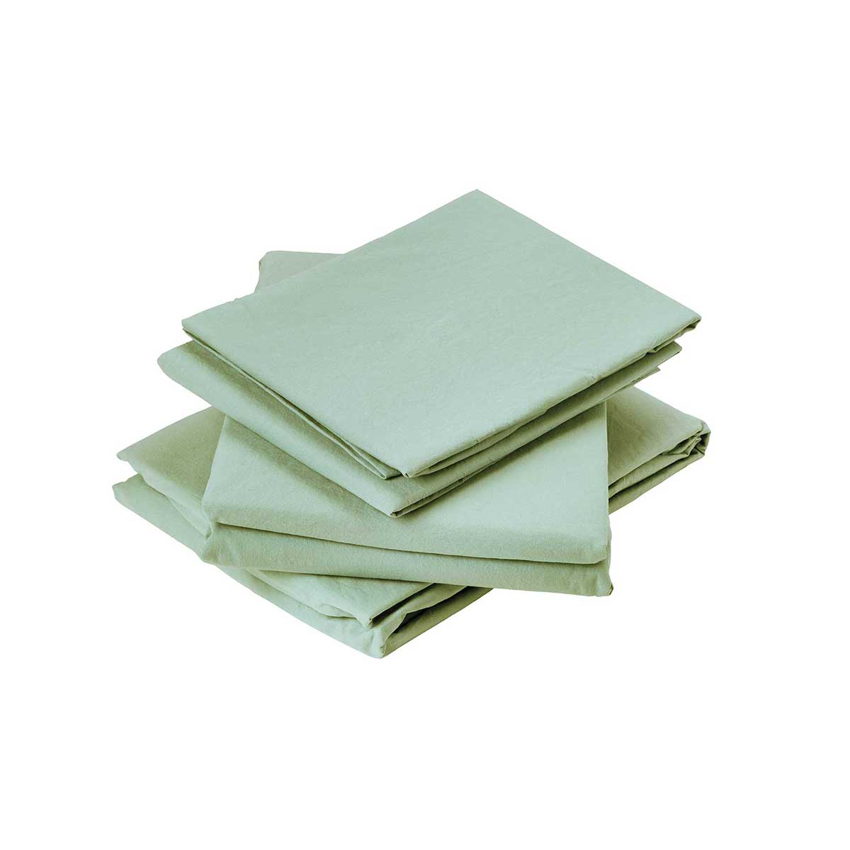 Drap plat en coton lavé coton aqua 290x180