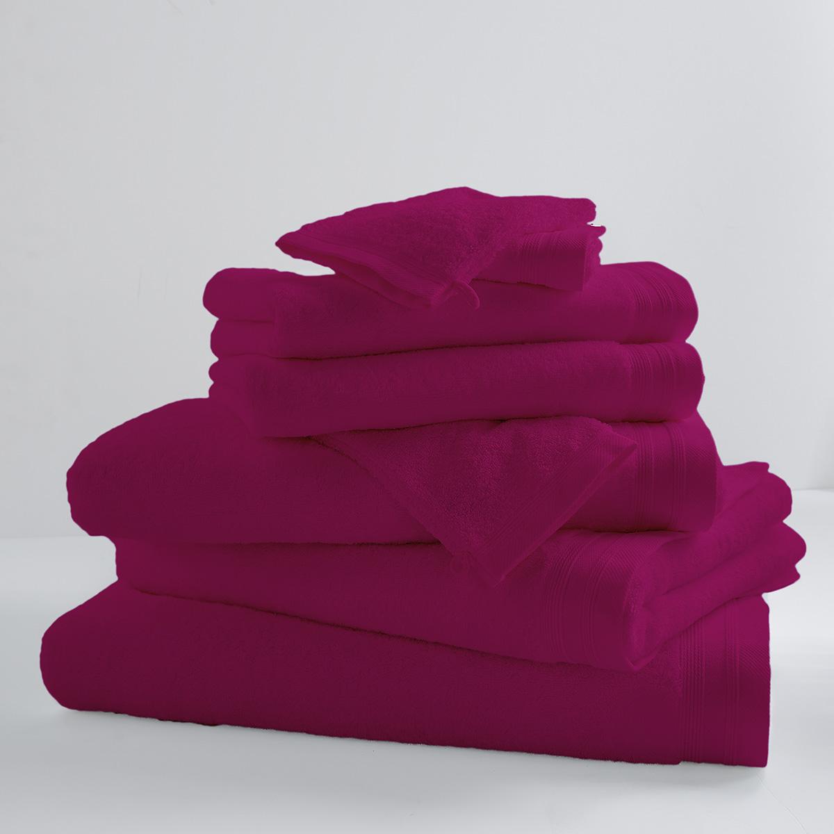 Drap de douche uni et coloré coton sorbet 140x70