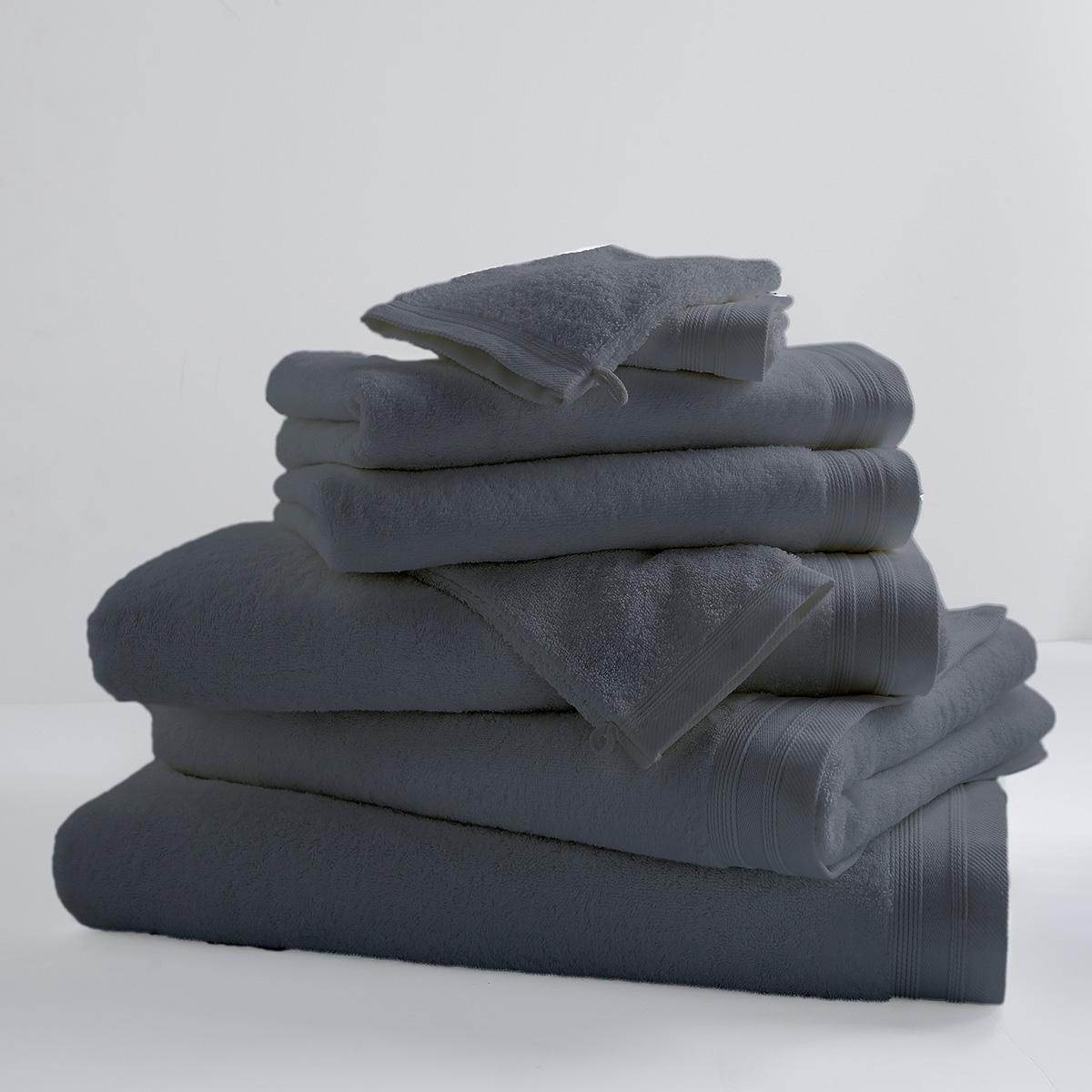 Drap de douche uni et coloré coton reglisse 140x70
