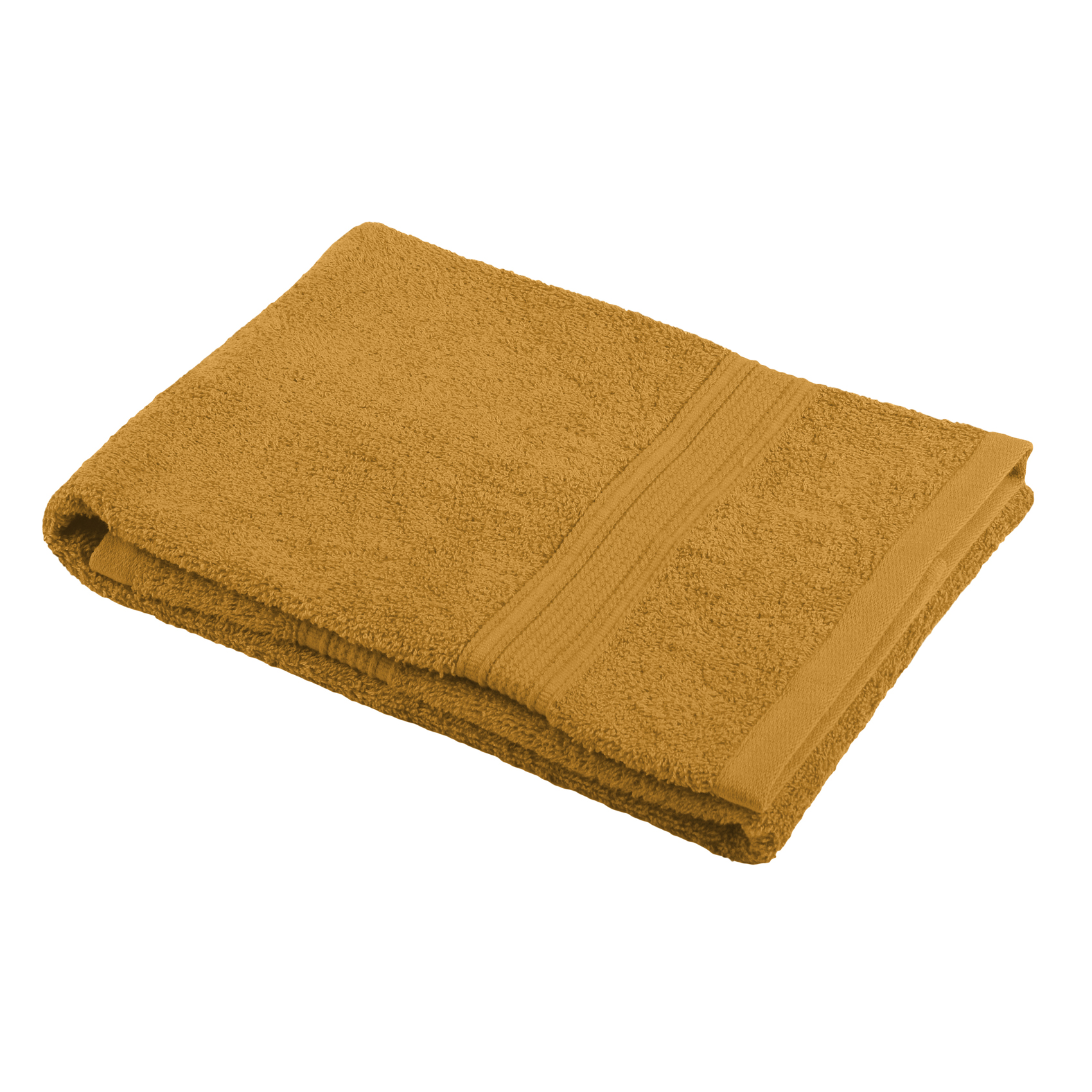 Drap de douche en coton bio coton curry 140x70