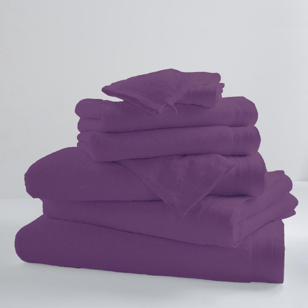 Drap de douche uni et coloré coton violette 140x70
