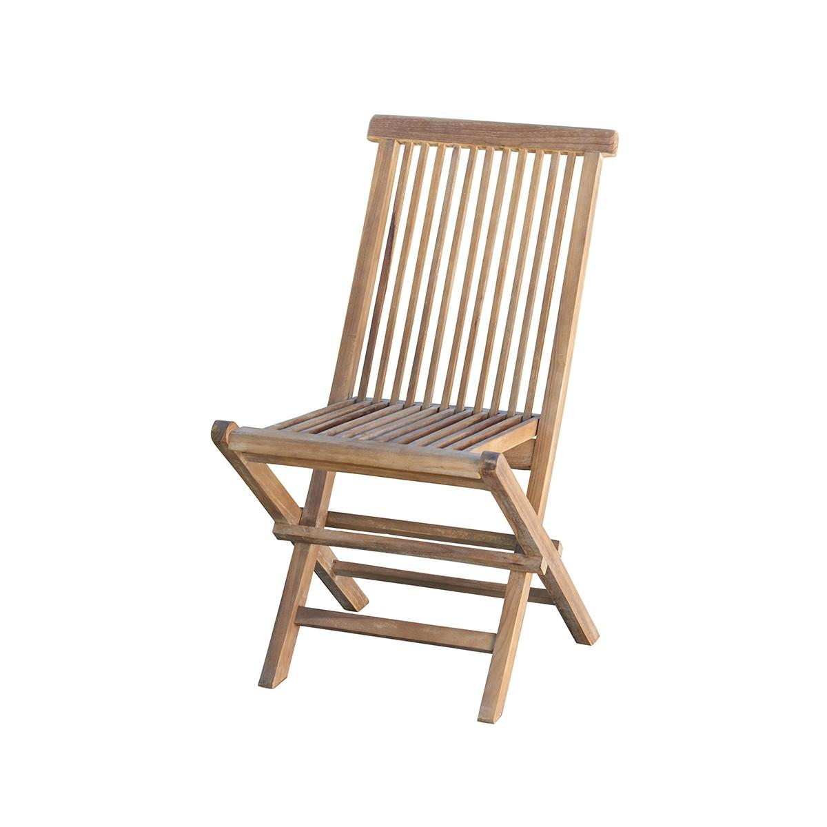 Chaise de jardin en teck huilé pliante