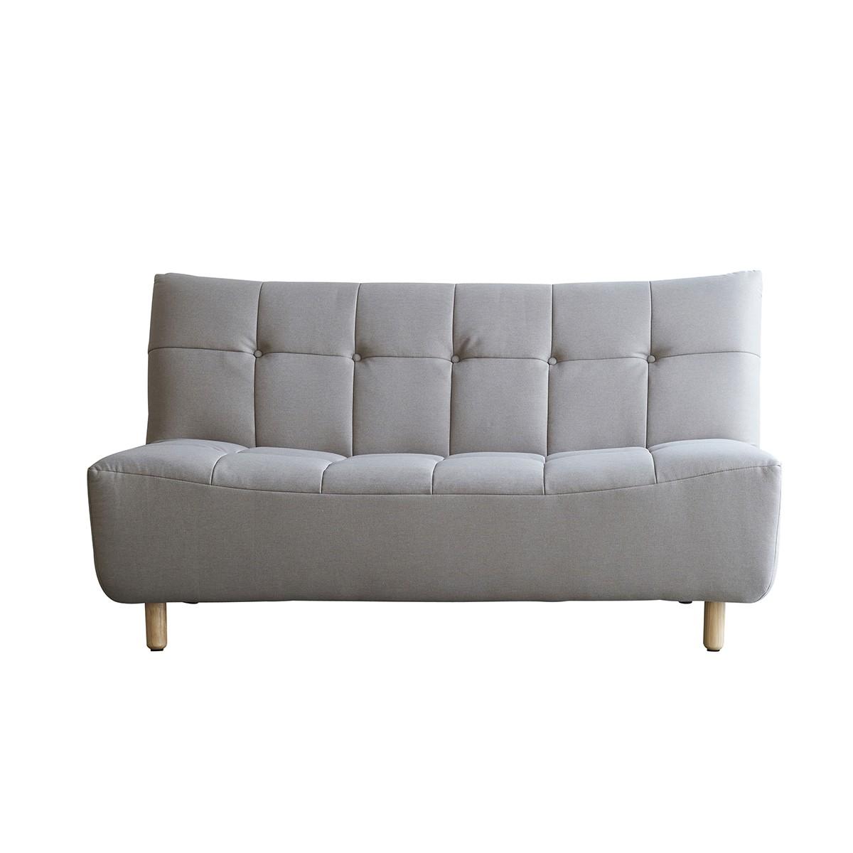Canapé droit 2 places Beige Tissu