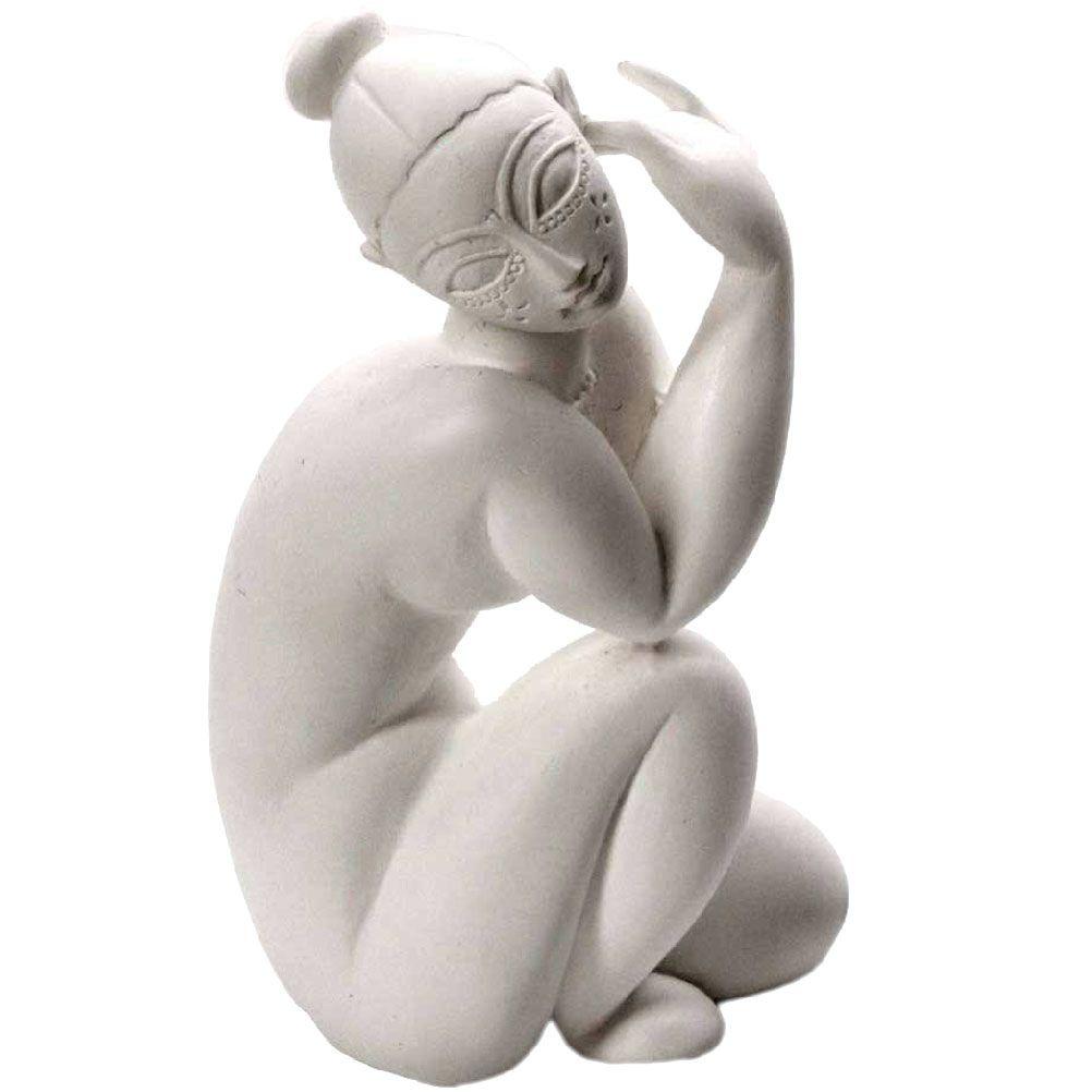 Figurine Modigliani nu féminin assis H9,5cm