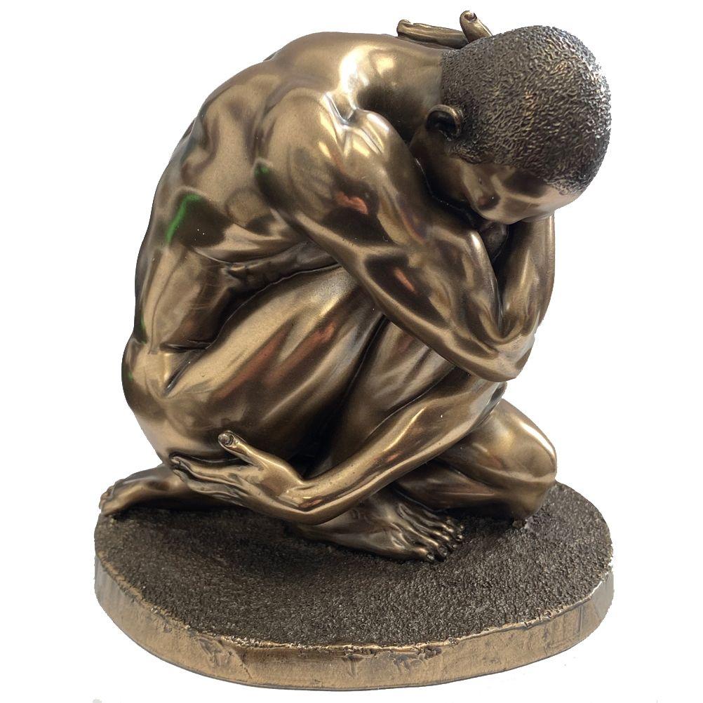 Statuette en résine homme nu H11cm