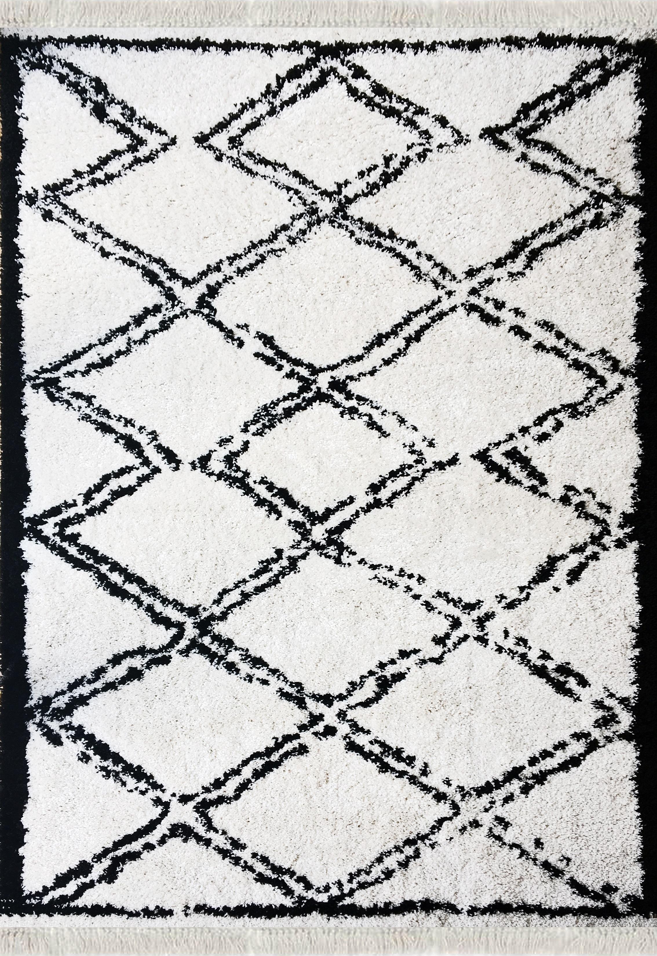 Tapis shaggy tanger beige 120x170