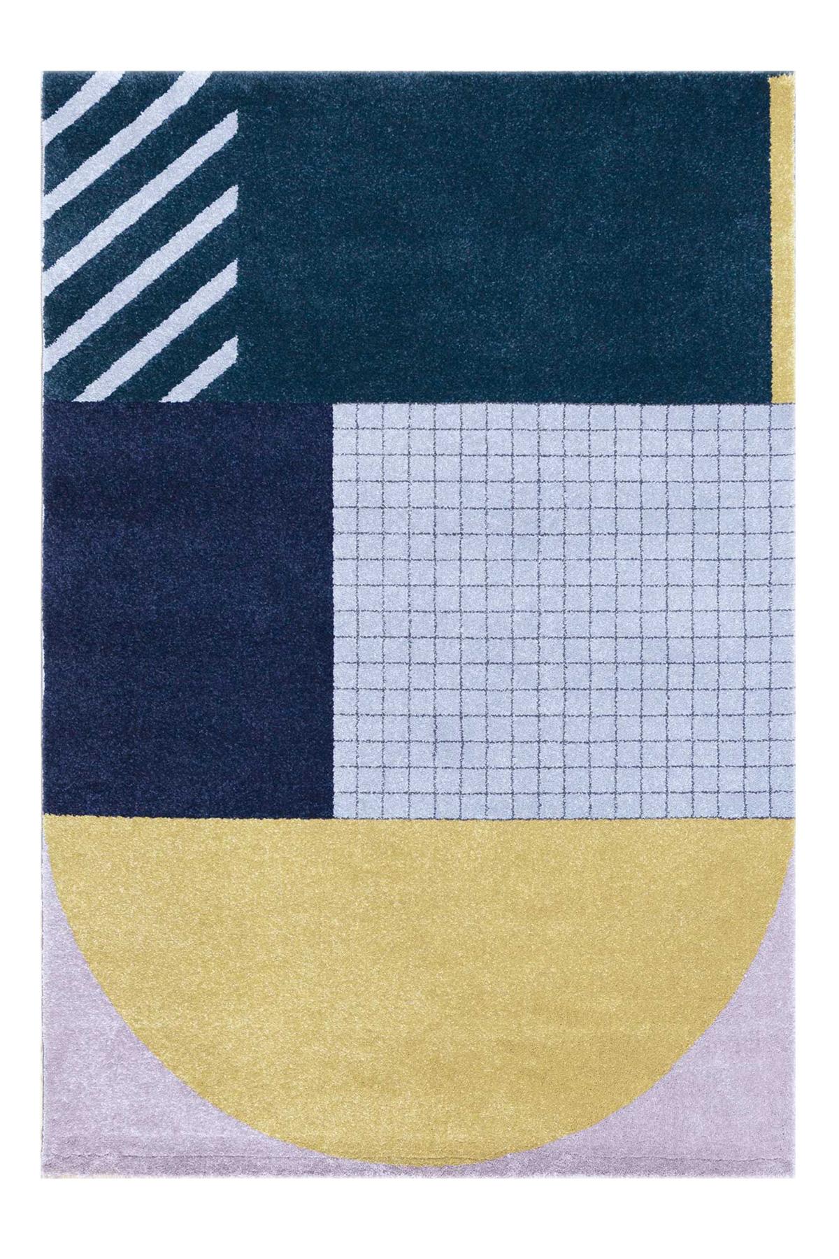 Tapis design art deco multicolore 160x230