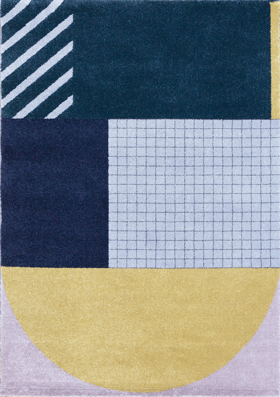 Tapis design art deco multicolore 120x170