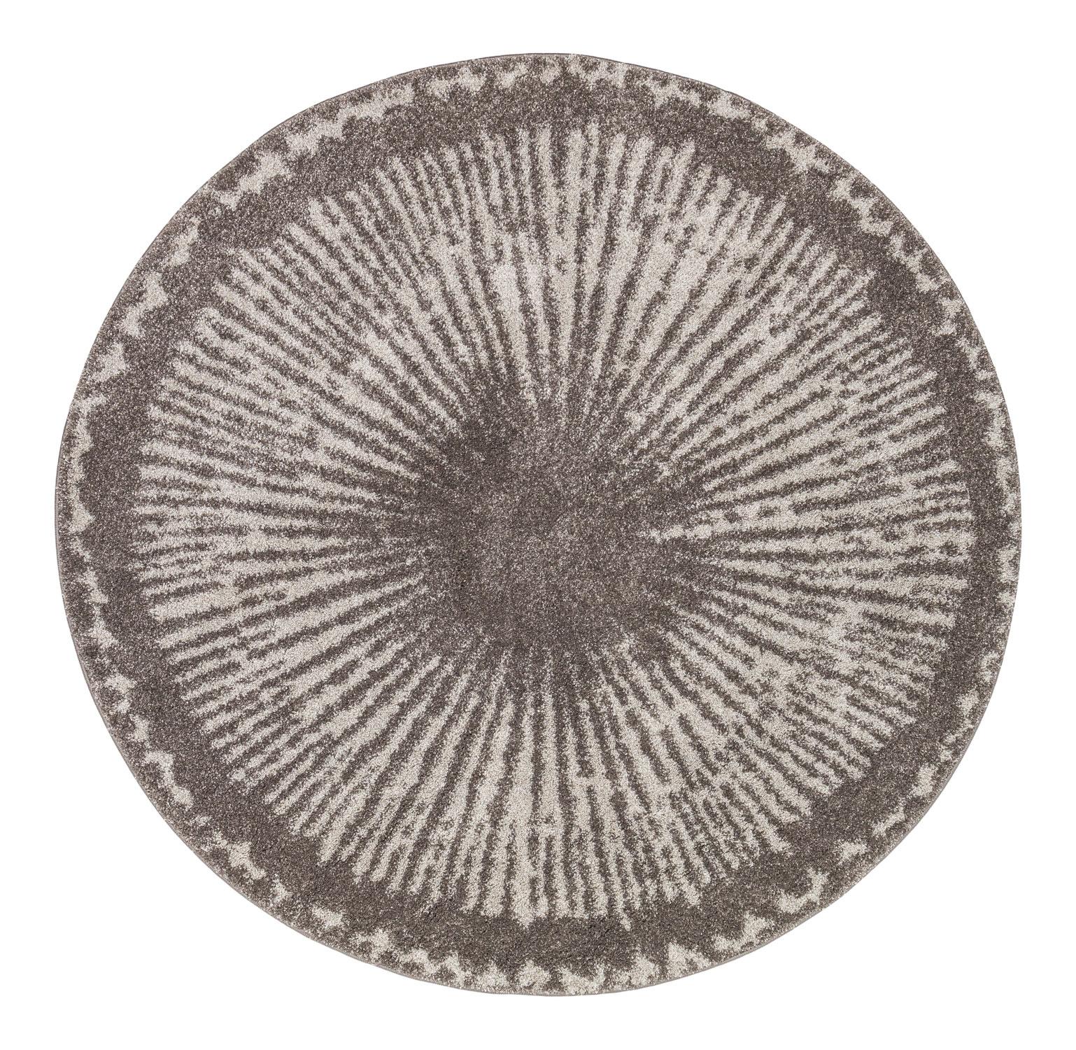 Tapis rond iris gris 160x160