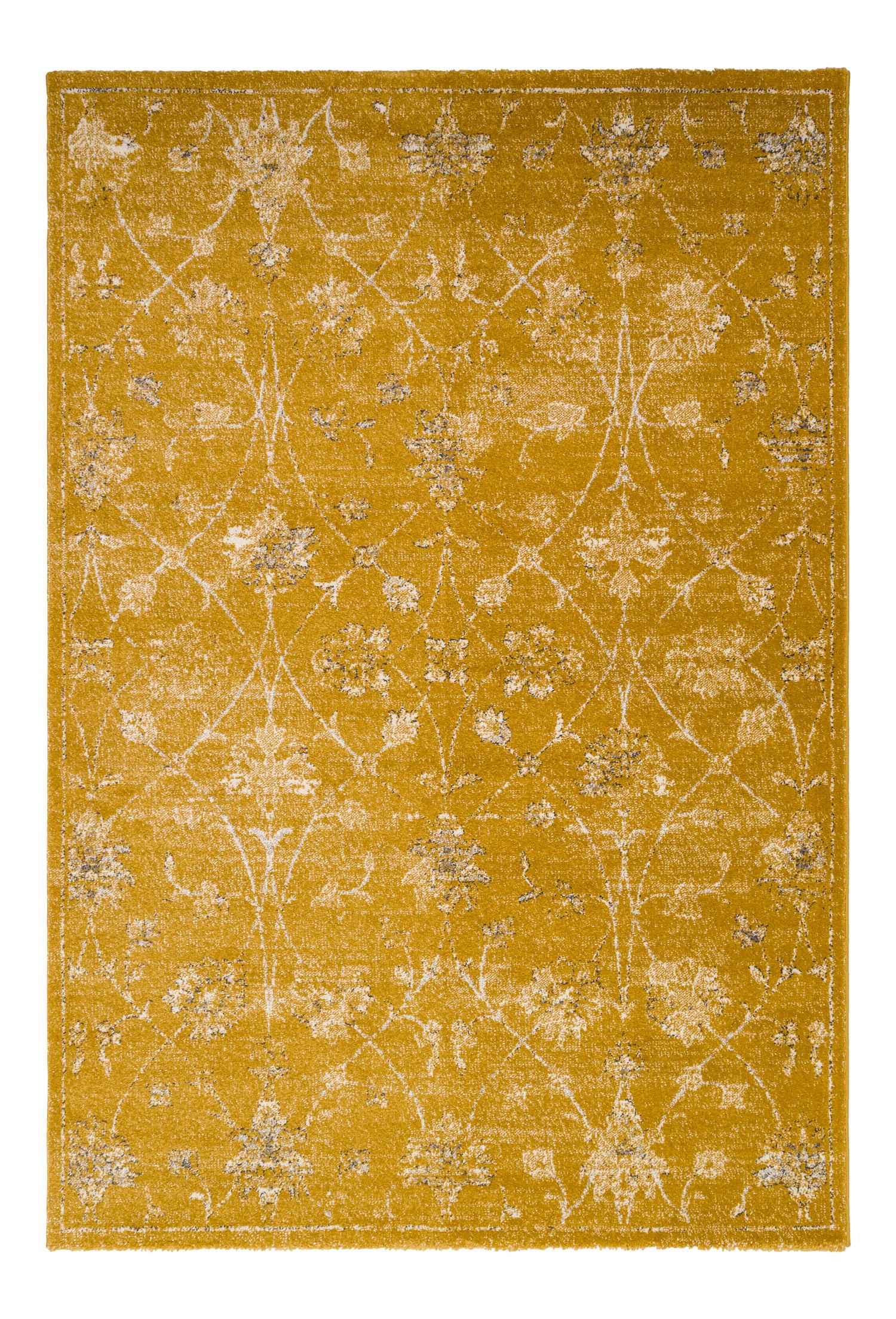 Tapis vintage floral miel 160x230