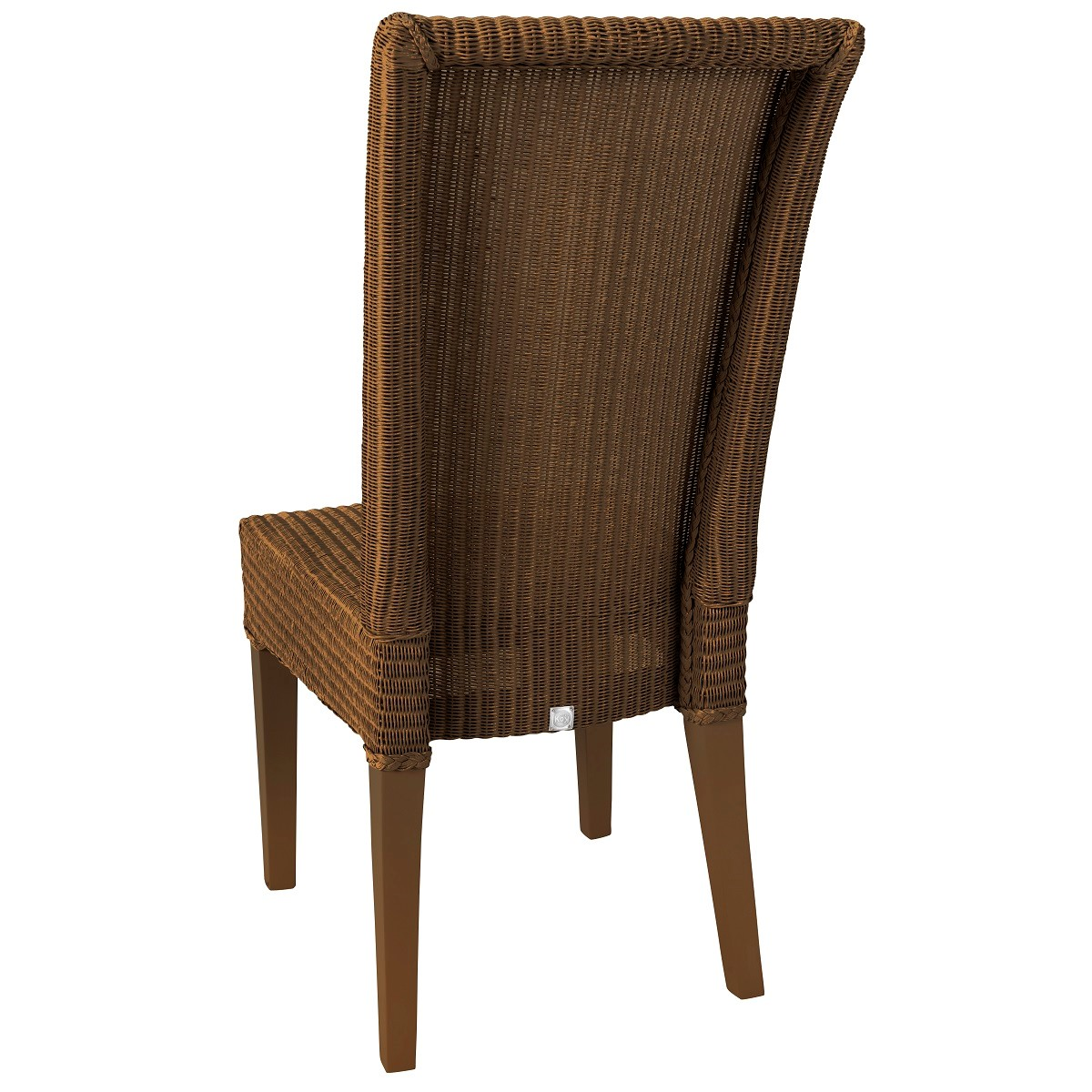 Chaise en Lloyd Loom laqué cuivre