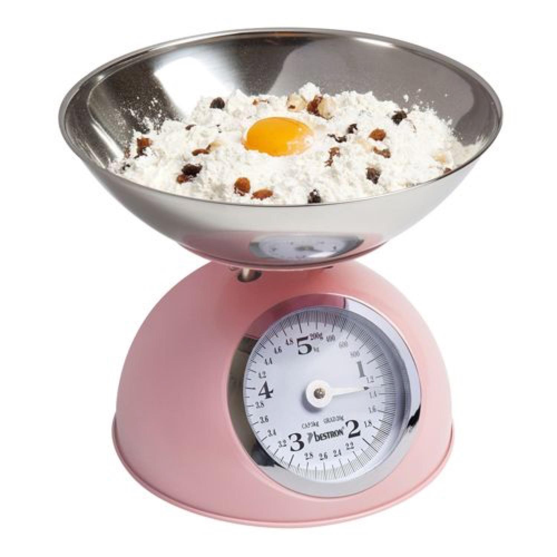 Balance de cuisine vintage 5 kg rose
