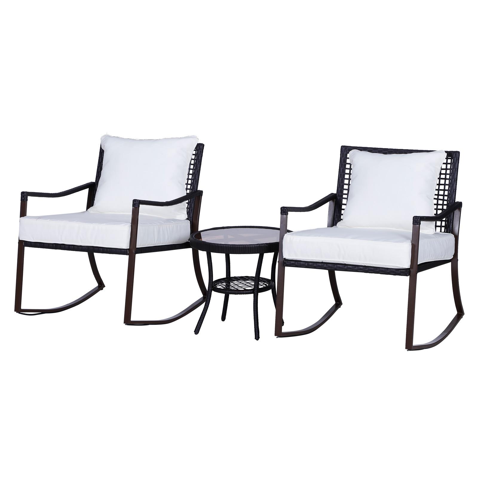Salon de jardin 2 personnes rocking chair style cosy