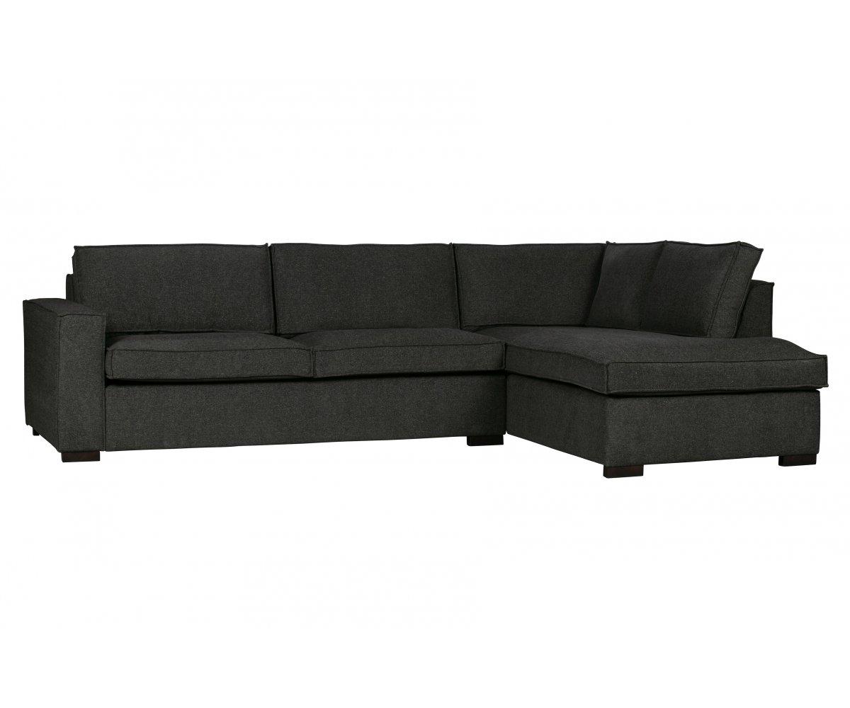 Canapé d'angle 4 places Tissu Moderne Confort