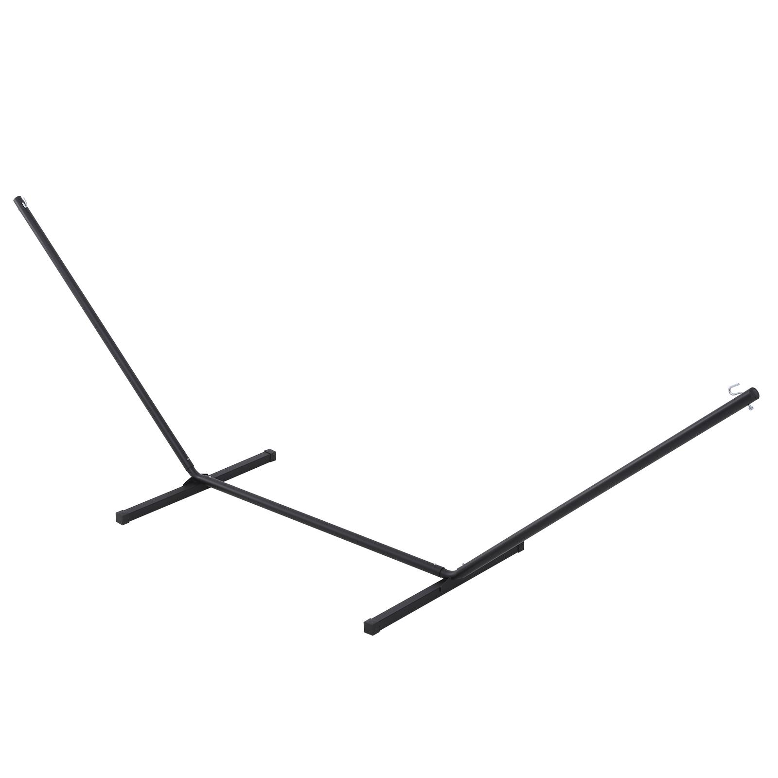 Support pied de hamac structure métal époxy noir