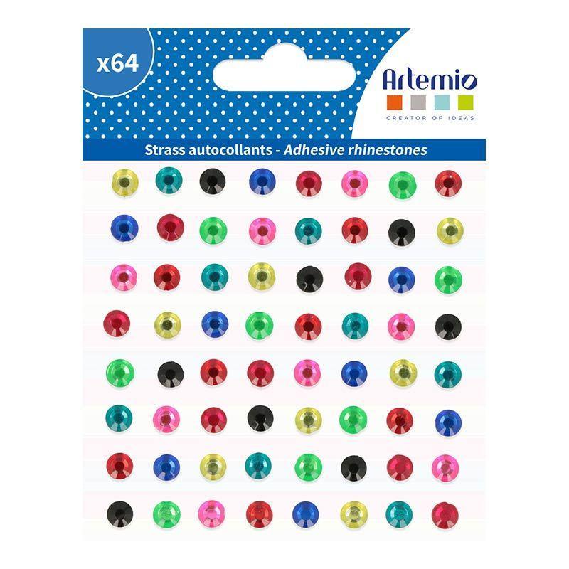 64 stickers diamants