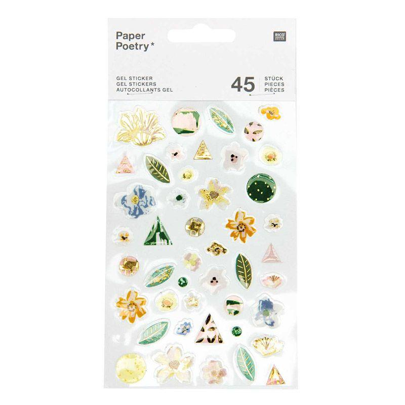 45 stickers gel verts