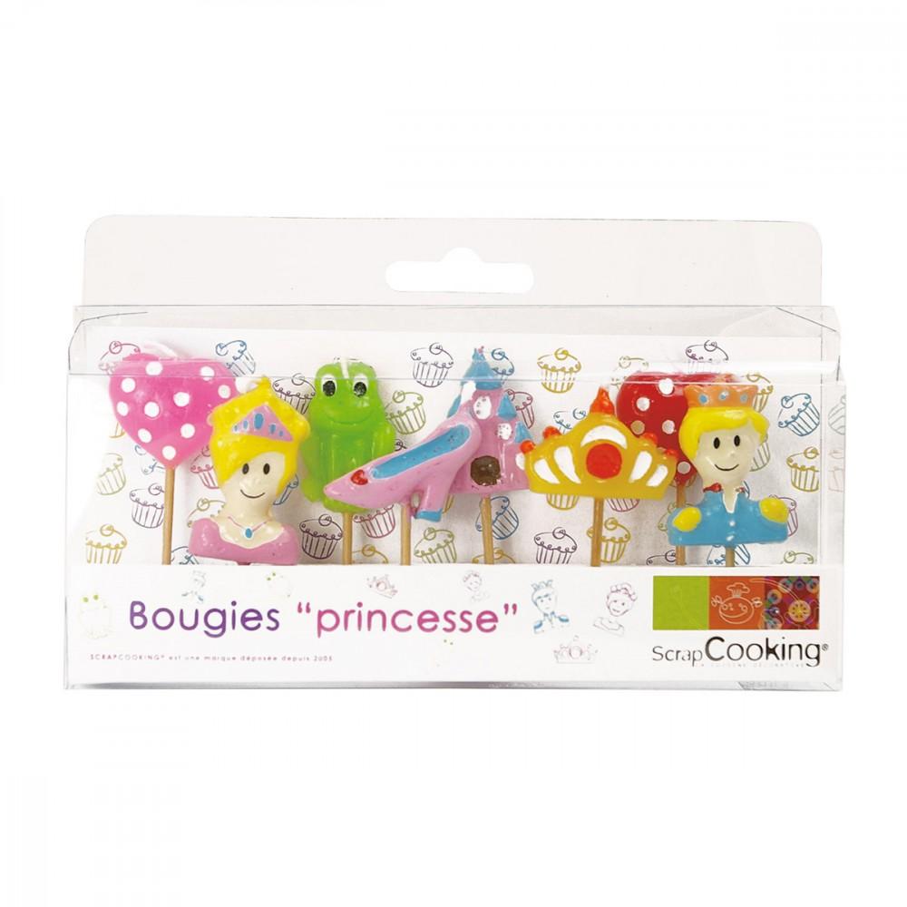 8 bougies d'anniversaire princesse