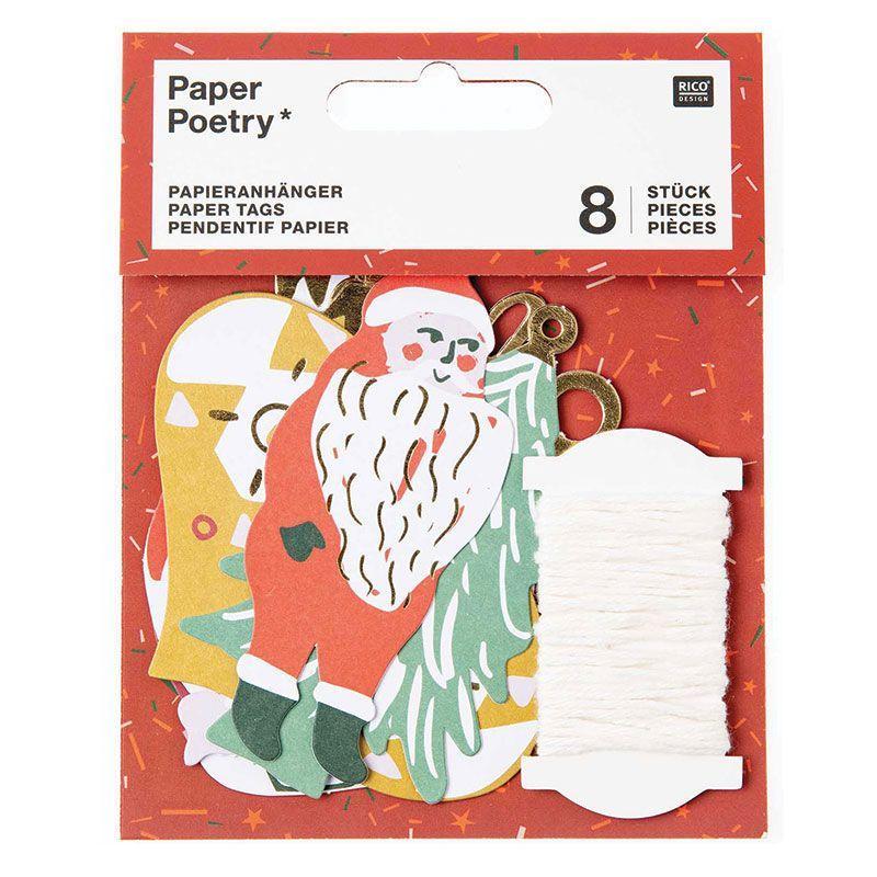 8 étiquettes pour cadeaux de Noël