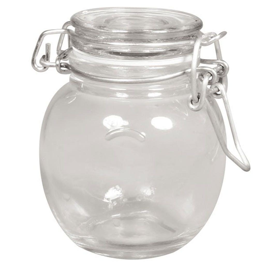 Bocal verre avec couvercle