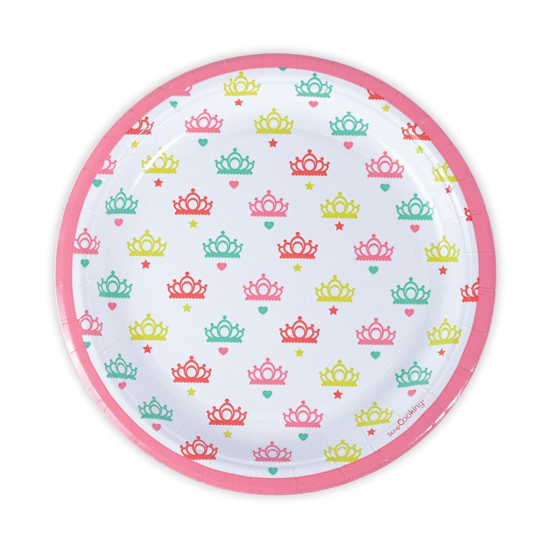 8 assiettes carton princesse D23cm
