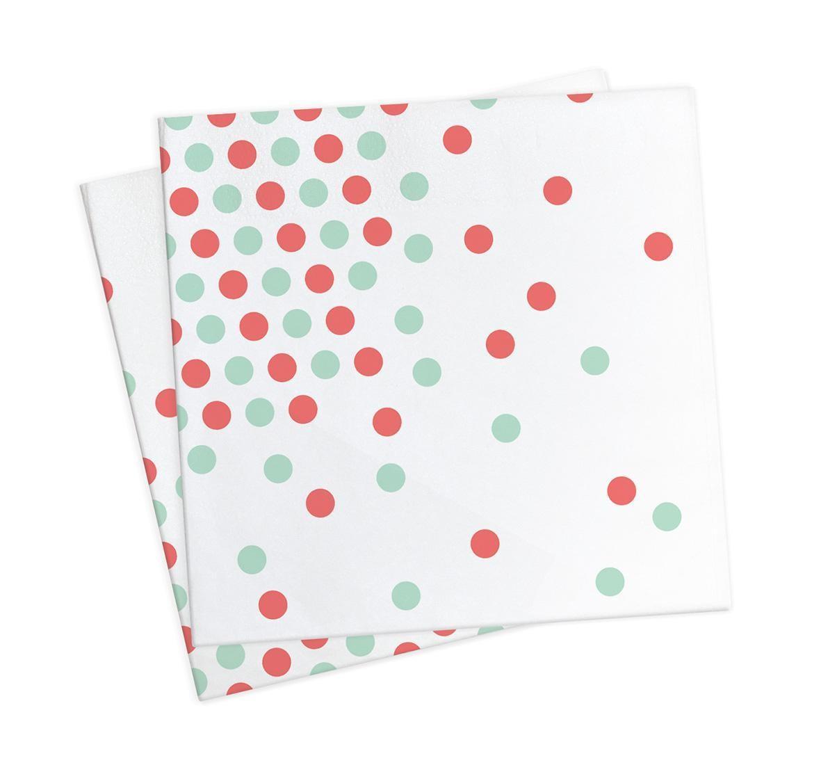 20 serviettes confettis 33x33cm