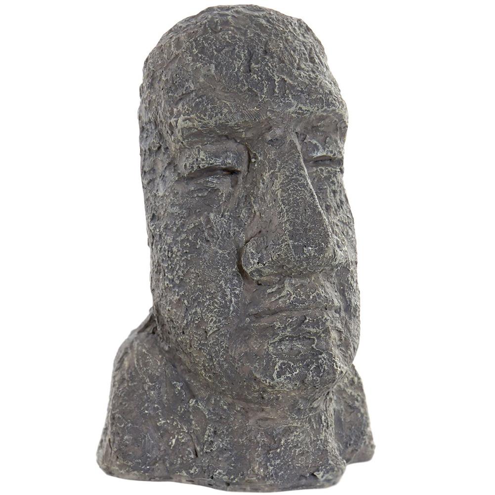 Petite statuette moai en résine H14cm