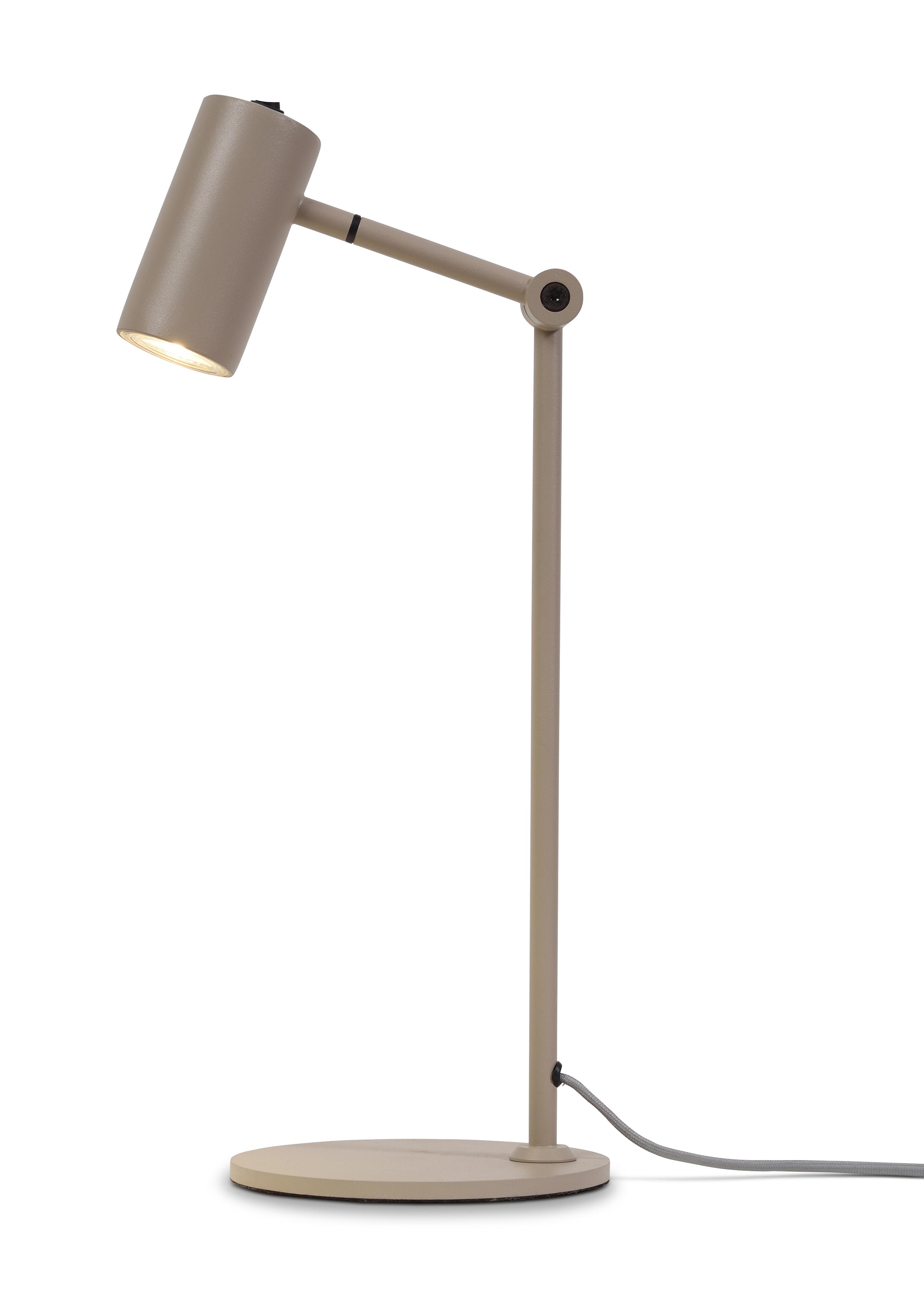 Lampe de table inclinable beige H40cm