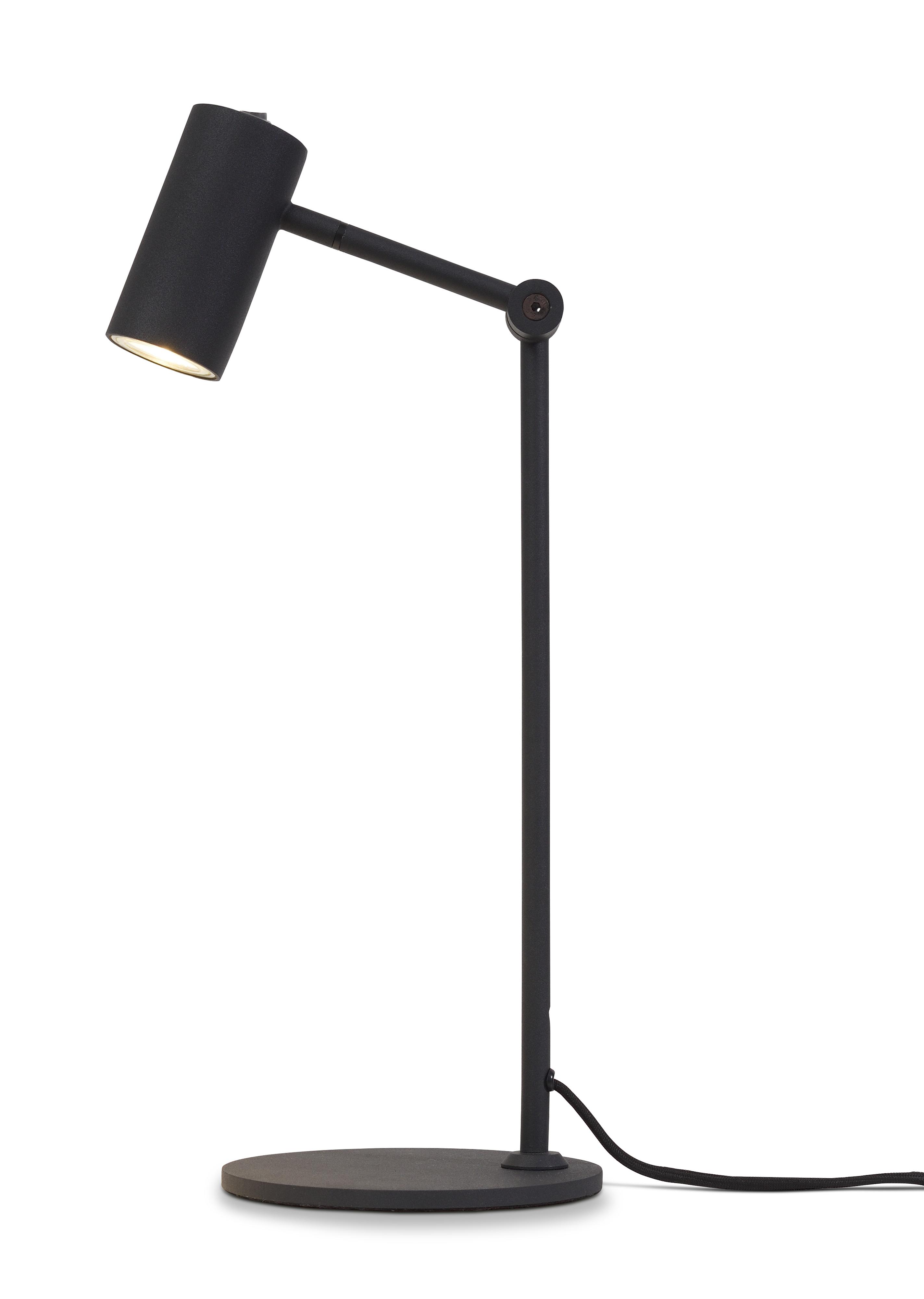 Lampe de table inclinable noire H40cm