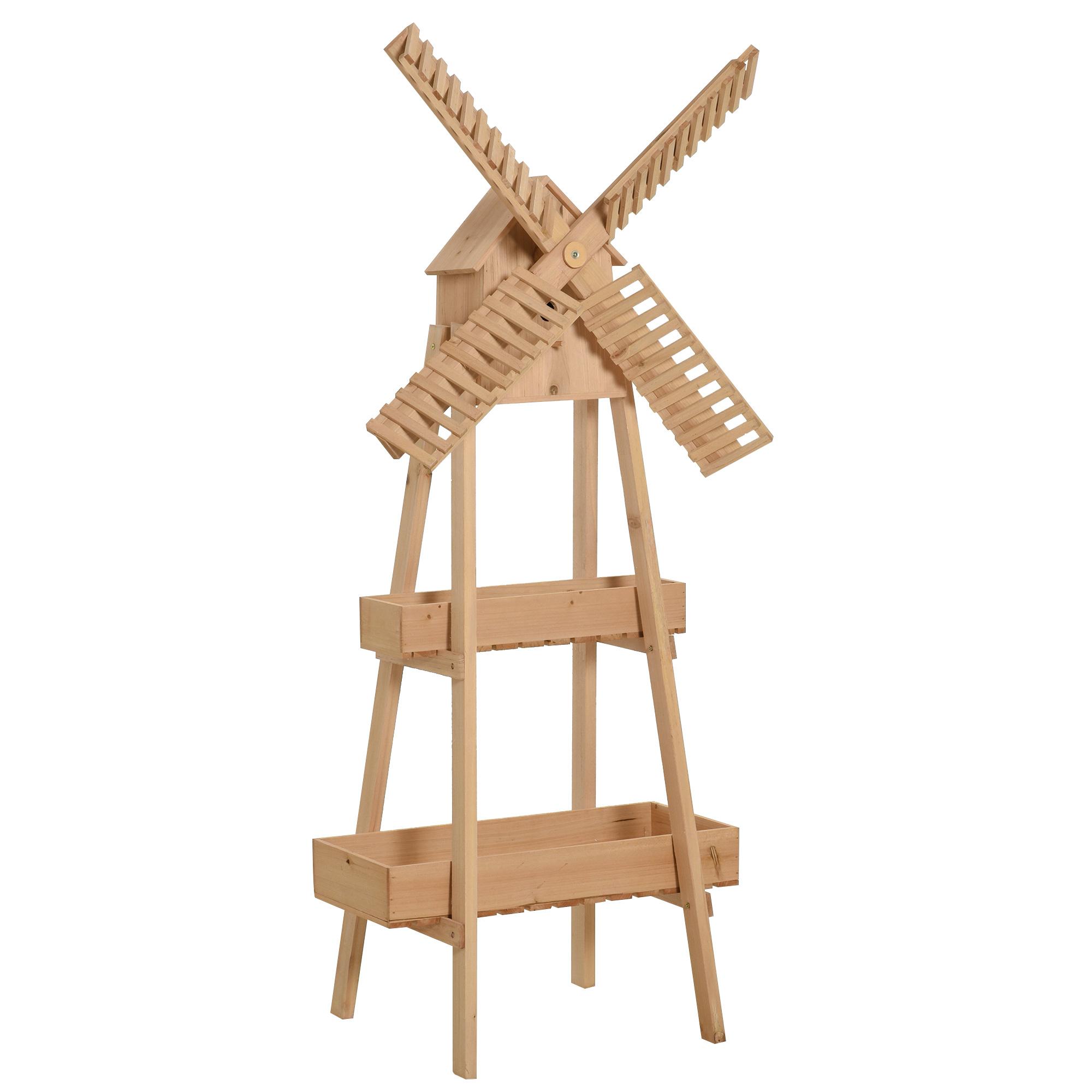 Moulin à vent décoratif - étagère pots de fleurs moulin - sapin