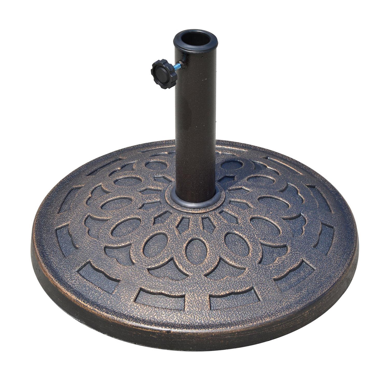 Pied de parasol résine imitation fonte bronze