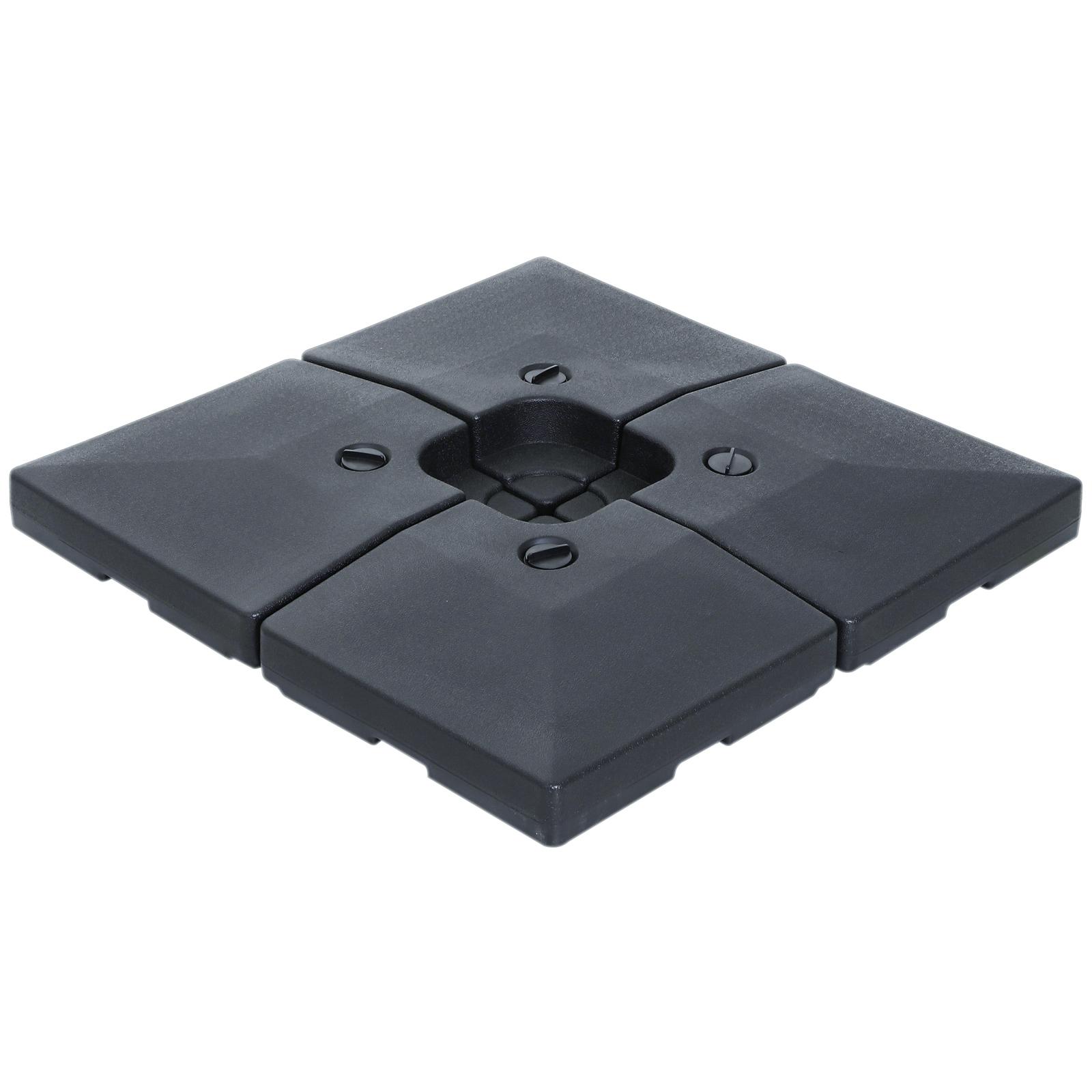 Lot de 4 poids de lestage carré HDPE noir