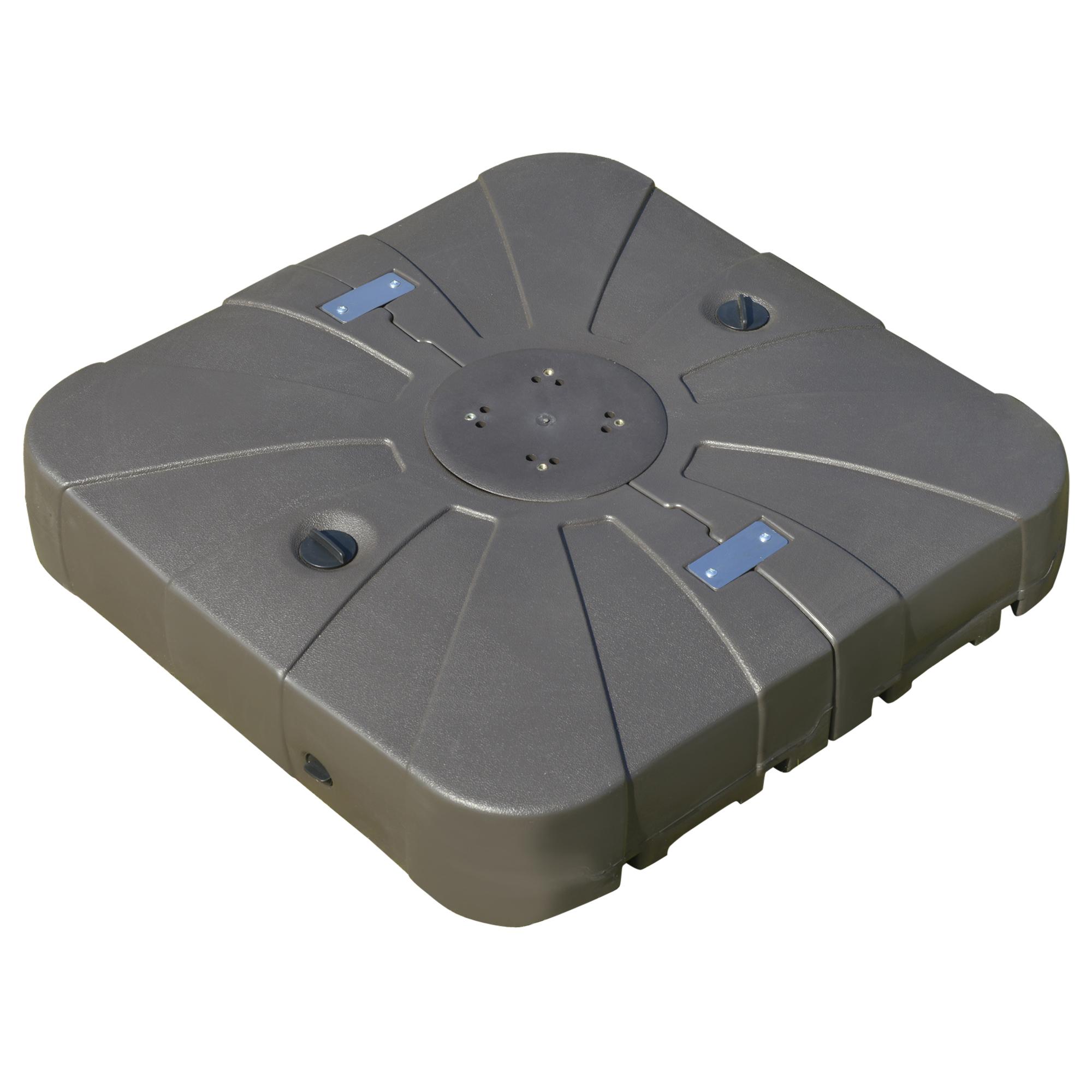 Pied de parasol déporté base de lestage HDPE gris