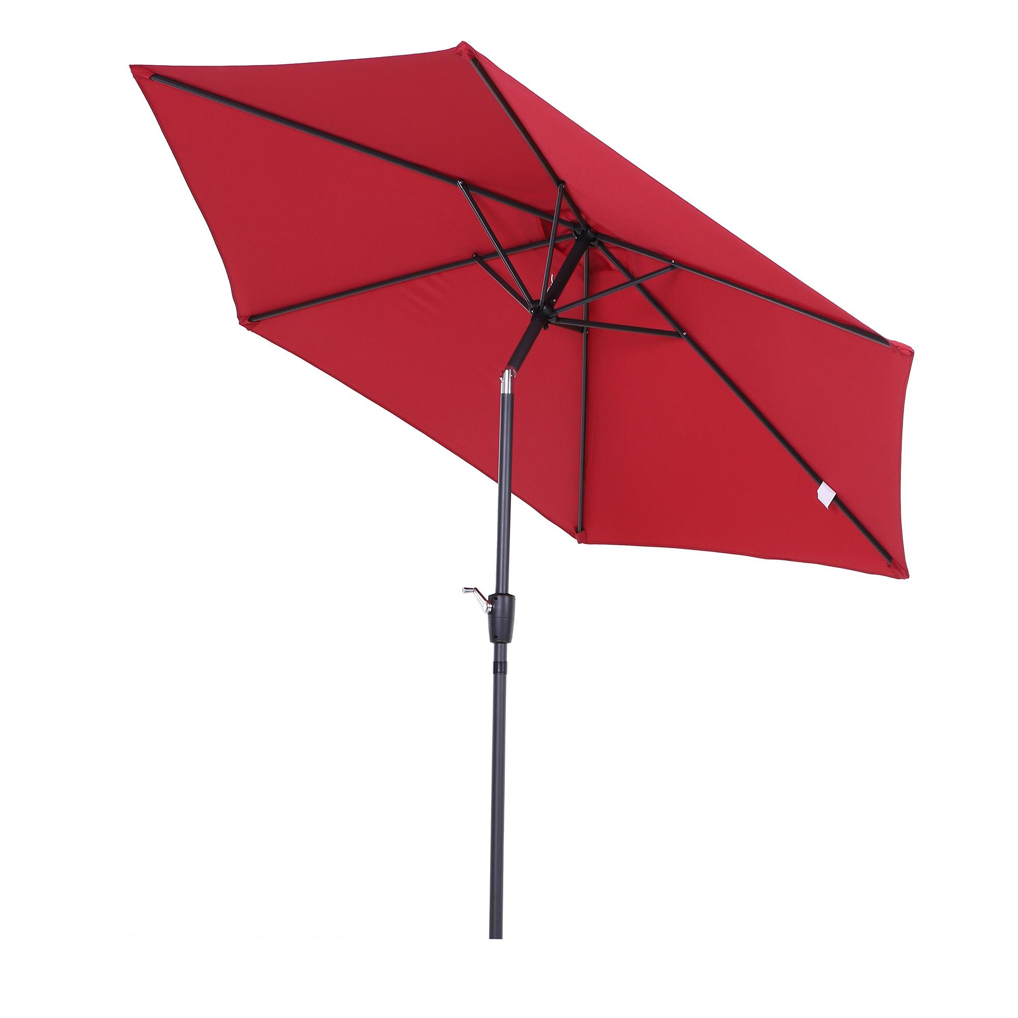 Parasol inclinable de jardin rouge vineux