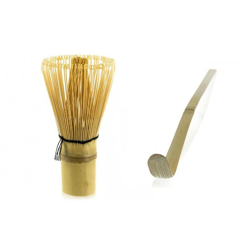 2 ustensiles à thé matcha en bambou
