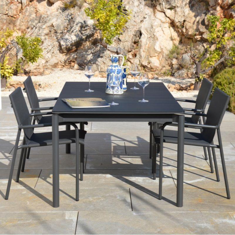 Table en verre extensible 10 places