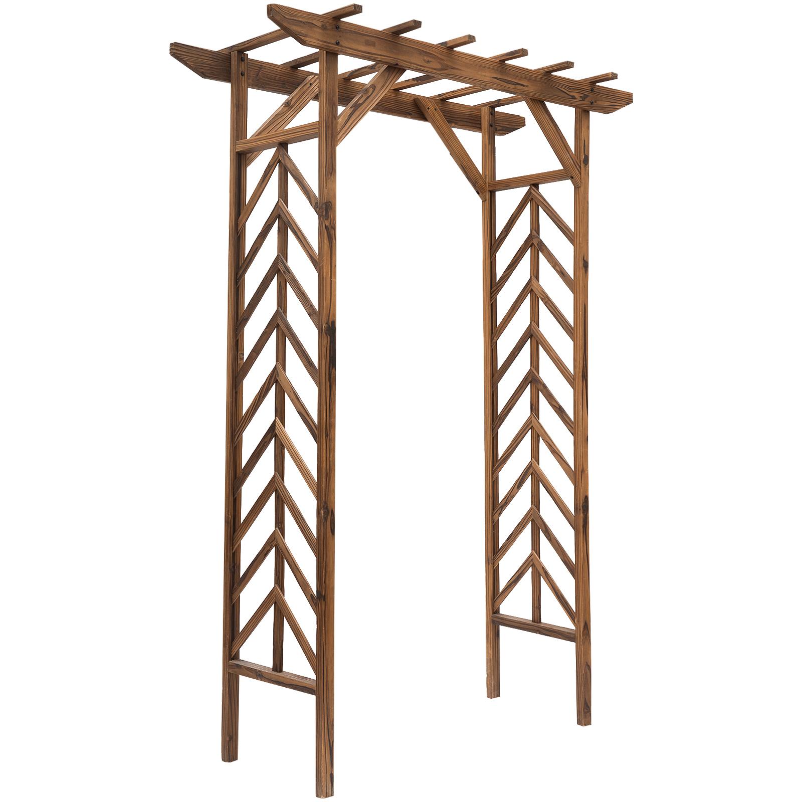 Arche à rosiers style exotique en bois de sapin